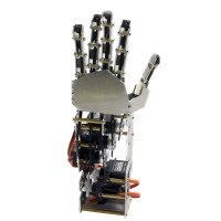 5DOF Humanoid Five Fingers Metal Manipulator Arm Left Hand with A0090 Servos for Robot DIY