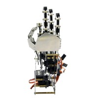 5DOF Humanoid Five Fingers Metal Manipulator Arm Right Hand with A0090 Servos for Robot DIY