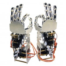 5DOF Humanoid Five Fingers Metal Manipulator Arm Left Hand+Right Hand with A0090 Servos for Robot DIY