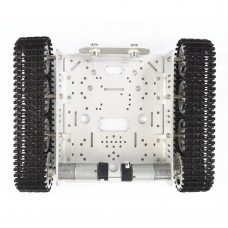 Tank Chassis Caterpillar Crawler Metal Track Car Vehicle Chassis for Robot Model DIY Unassembled T200