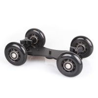 Drift Car Flexible 4-Wheel Rail Rolling Track Slider Skater Table Dolly Car for DSLR Camera Camcorder