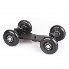 Drift Car Flexible 4-Wheel Rail Rolling Track Slider Skater Table Dolly Car for DSLR Camera Camcorder