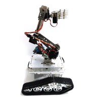 7DOF Mechanical Robot Arm Clamp Claw Mount + Car Tank Chassis + Servo +Controller Kit for Robotic Car
