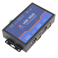 Q18040 USRIOT USR-N520 Serial to Ethernet Server TCP IP Converter Double Serial Device RS232 RS485 RS422