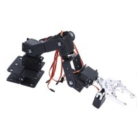 6DOF Robotic Arm + Mechanical Clamp Claw + Servo for Arduino Robot Car Tank DIY Unassembled