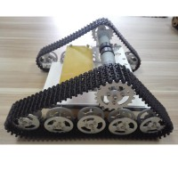 Tank Car Chassis Crawler Plastic Track Caterpillar Chassis for Arduino DIY Robot T150-Silver