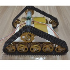 Tank Car Chassis Crawler Plastic Track Caterpillar Chassis for Arduino DIY Robot T150-Gold