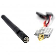 FPV 5.8GHZ Transmitter 300mW 40CH DC8-24V Tx w/Darlc Mushroom Antenna for Hawk Eye Q300