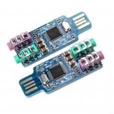 USB External Sound Card CM108 Chip Crystal Oscillator for Computer Laptop PC 2-Pack