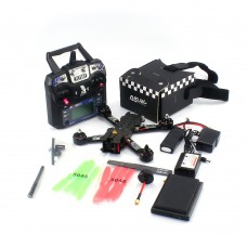 "4-Axis Carbon Fiber Quadcopter 220mm w/Propeller CC3D Flight Controller + Remote Control + 4.3"" Monitor RS220 RTF FPV"