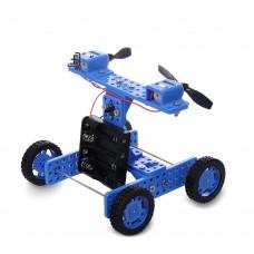 Wind Car DIY Rubber Wheel for Arduino Childen Kids Toy NO.34 Unassembled