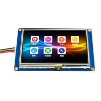 "4.3"" USART UART Serial Touch TFT LCD Module 480x272 Display Panel for Raspberry Pi Arduino"