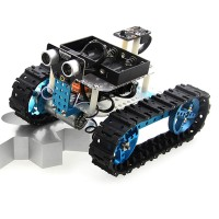 Starter Infrared Robot Car Tank Kit Smart Programmable IR Robotics DIY for Arduino Makeblock