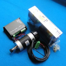 CNC ER11 48V 400W Air-Cooled Brushless Spindle Motor + Motor Driver Controller + Power Supply