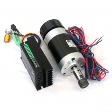 CNC 400W Brushless DC Spindle Motor Air-Cooled + BLDC Motor Driver Controller for Engraving Machine WS55-180