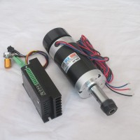 CNC ER16 48V 500W Brushless Spindle Motor Air-Cooled + BLDC Motor Driver Controller for Engraving Machine WS55-220