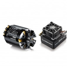 Hobbywing Xerun V10 G2 4.5T Sensored Brushless Motor 7600KV + XR10 PRO ESC for 1:10 Car Crawler