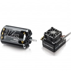 Hobbywing Xerun V10 G2 8.5T Sensored Brushless Motor 4050KV + XR10 PRO ESC for 1:10 Car Crawler
