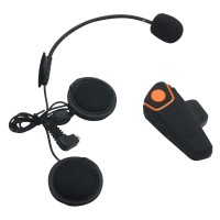 BT-S2 1000m Motorcycle Helmet Bluetooth Headset Interphone Intercom Waterproof FM Radio Music Headphones GPS