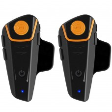 BT-S2 1000m Motorcycle Helmet Bluetooth Headset Interphone Intercom Waterproof FM Radio Music Headphones GPS 2Pcs