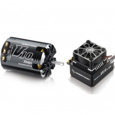 Hobbywing Xerun V10 G2 13.5T Sensored Brushless Motor 3000KV + XR10 PRO ESC for 1:10 Car Crawler