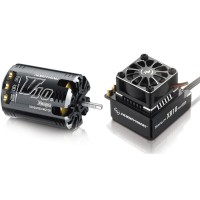 Hobbywing Xerun V10 G2 21.5T Sensored Brushless Motor 1760KV + XR10 PRO ESC for 1:10 Car Crawler