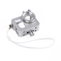 Metal CNC Aluminium Protective Case Shell for GoPro Hero4 HERO3+ Camera-Silver
