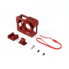 Metal CNC Aluminium Protective Case Shell for GoPro Hero4 HERO3+ Camera-Red