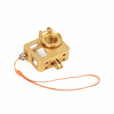 Metal CNC Aluminium Protective Case Shell for GoPro Hero4 HERO3+ Camera-Gold