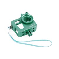 Metal CNC Aluminium Protective Case Shell for GoPro Hero4 HERO3+ Camera-Green