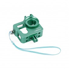 Metal CNC Aluminium Protective Case Shell for GoPro Hero4 HERO3+ Camera-Green