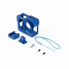 Metal CNC Aluminium Protective Case Shell for GoPro Hero4 HERO3+ Camera-Blue