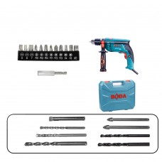 220V Impact Drill Hand Electric Drill Household Tool Screwdriver Power Tool w/Drilling Bits Set
