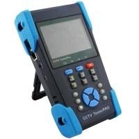 """HVT-2621 3.5"""" TFT LCD CCTV Tester PTZ Controller UTP Cable Test Visual Fiber Tester"""