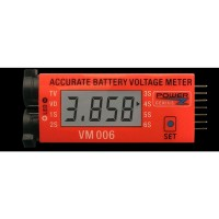 VM006 1-6S LCD Battery Voltage Meter LiPo NiCd NiMh Tester Buzzer Indicator Alarm