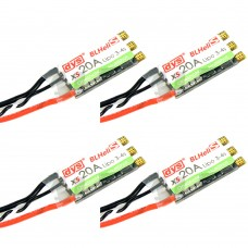 DYS XS20A FPV ESC Electronic Speed Controller 3-4S Lipo for Drone Quadcopter 4Pcs