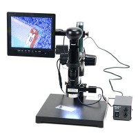 "SK2700PD Digital Microscope Magnifier with 8"" Screen White Screen + Light Source + Controller"