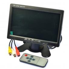 """7"""" LCD Mini TV TFT Color Monitor AV Display 1024x600 AV Interface for Car"""
