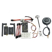 APM V2.8.0 Flight Controller No Compass with Ublox Neo-M8N GPS & Power Module & 433Mhz 3DR Radio Telemetry for FPV Multicopter