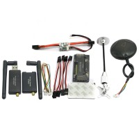 APM V2.8.0 Flight Controller No Compass with Ublox LEA-6H GPS & Power Module & 433Mhz 3DR Radio Telemetry for FPV Multicopter