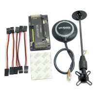 APM V2.8.0 ArduPilot Mega 2.8 APM Flight Controller No Compass with Ublox Neo-M8N GPS(GPS Holder) for FPV Multicopter