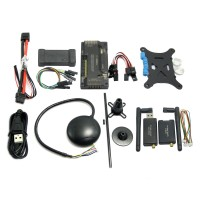 APM2.8.0 ArduPilot Flight Controller + Ublox 6M GPS w/ Compass+ PM+ 3DR 915Mhz Telemetry +OSD+USB Data Cable