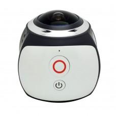 V1 360 Degree Mini WiFi Panoramic Video Camera 2448P 30fps 16MP Photo 3D Sports DV VR Video White