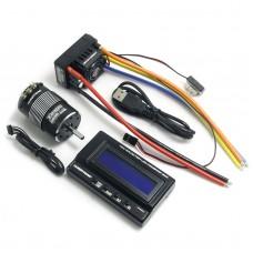 Hobbywing SCT-PRO Brushless 120A ESC + 3400KV Sensored Motor + LCD Program Card Box for 1/10 Car Buggy