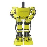 17DOF Biped Robotics Humanoid Robot Two-Leg Aluminum Frame Kit w/17pcs Servo Robo-Soul H3.0 -Yellow