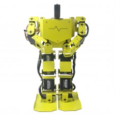 17DOF Biped Robotics Humanoid Robot Two-Leg Aluminum Frame Kit w/17pcs Servo Robo-Soul H3.0 -Yellow