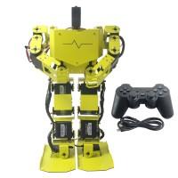 17DOF Biped Robotics Humanoid Robot Frame Full Kit w/17pcs Servo + Controller Robo-Soul H3.0-Yellow