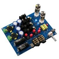 6J5 HIFI Tube Headphone Amplifier Board AMP ALPS 16 Potentiometer DIY KIT Unassembled