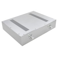 WA59 Aluminum Power Amplifier Chassis Enclosure Box Case Shell 343x430x92mm Silver