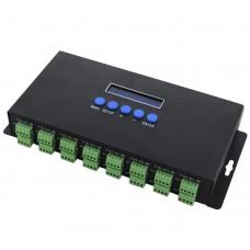 BC-216 LCD 16 Channels Ethernet to SPI DMX Pixel Light Controller DC5V-24V